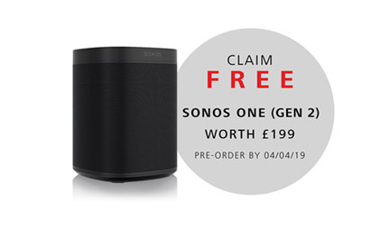 Free Sonos One (Gen 2) When You Pre-Order