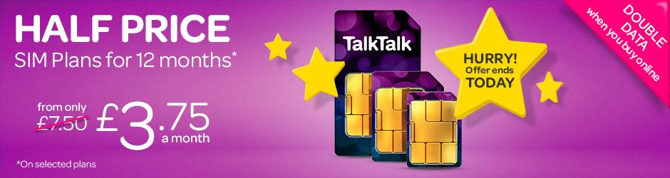 TalkTalk Sim Only plans