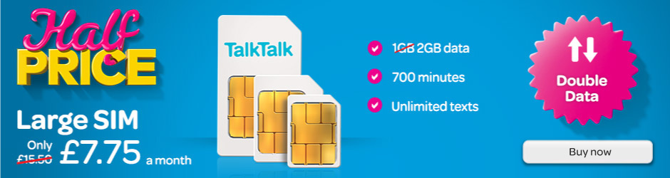 TalkTalk Sim Only plans