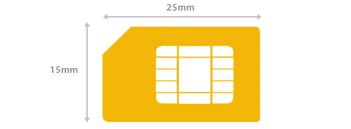 Standard SIM size guidelines
