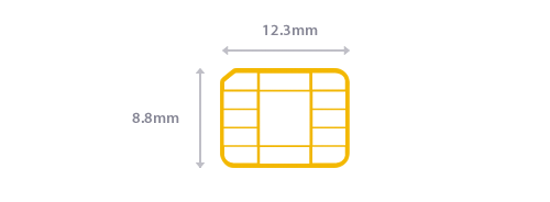 Nano SIM card size guidelines