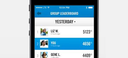 Fitness App leaderboard