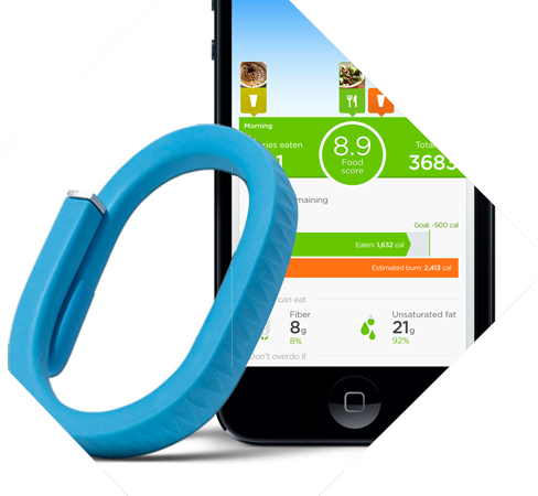 track calories using fitness band