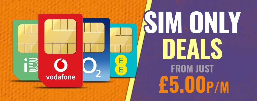 SIM Only deals from £5 per month