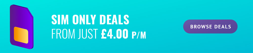 SIM Only Deals from £4 per month