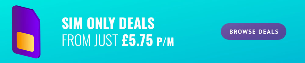 SIM Only Deals from £5.75 per month