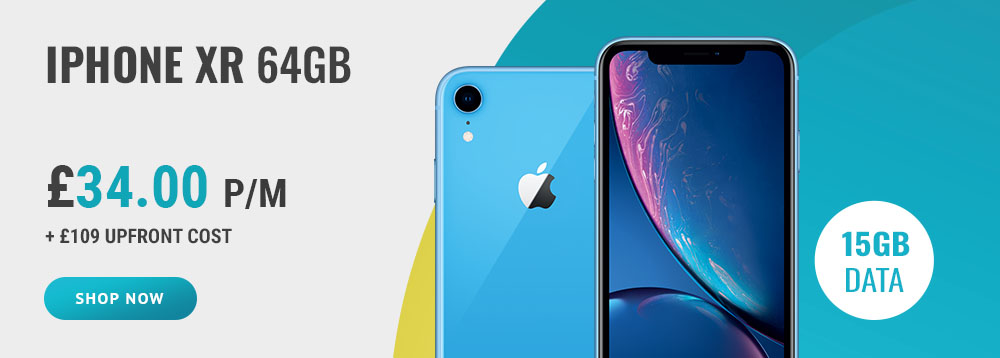 iPhone XR 46BG at £34.00 per month