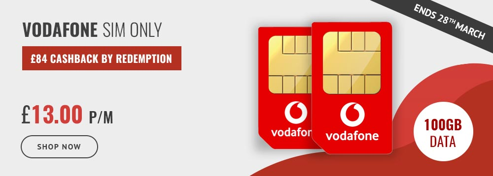 Vodafone Sim Only at £13 per month
