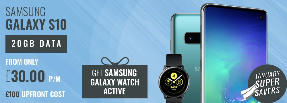 Samsung Galaxy S10 + Galaxy Watch Active